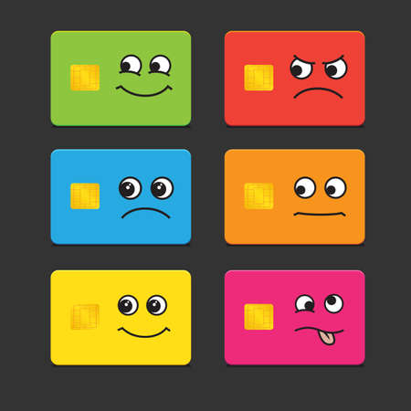 Template cards of different colors Vector