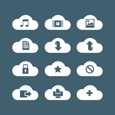 cloud service: different icons for cloud service
