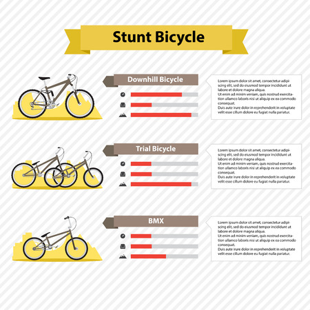 infographics template types of bicycles Vector