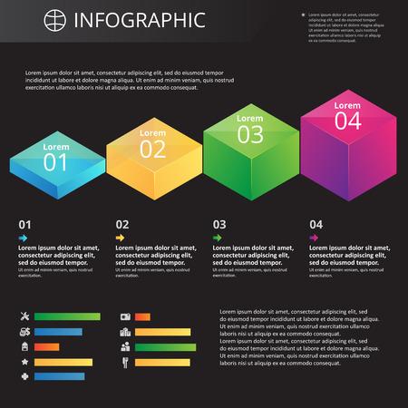 arbitrario: Infografía plantilla arbitrarias con iconos