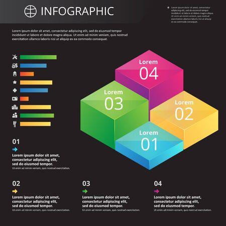 arbitrary: Infograf�a plantilla arbitrarias con iconos