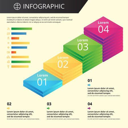 willekeurig: willekeurige sjabloon infographics met pictogrammen