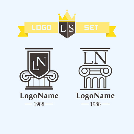 pillars: logo element column or on the protection of lawyer