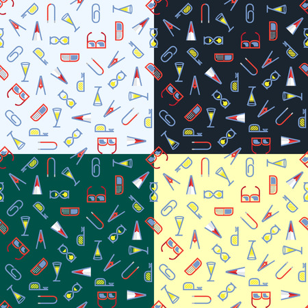 twill: Abstract seamless pattern in several versions Illustration