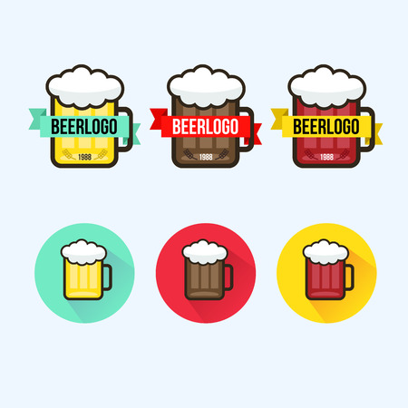 beer garden: logo on the theme beer garden or bar Illustration