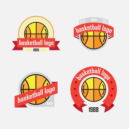 Vier logo met een basketbalbal en een lint
