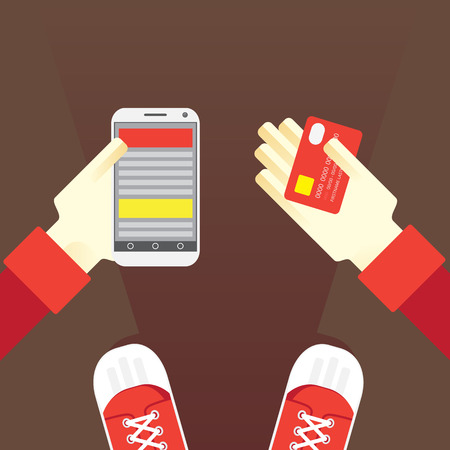 anywhere: Electronic payments anywhere using a card and a mobile phone