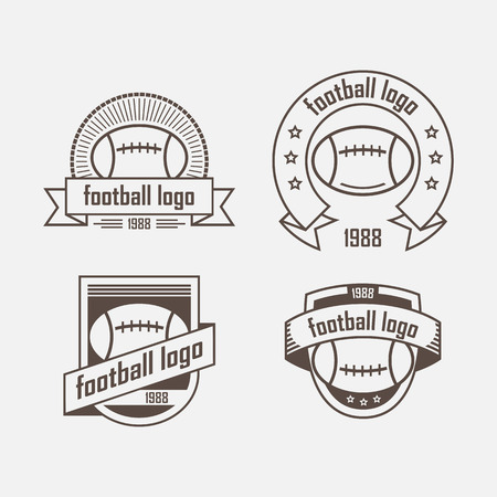footbal: Four logo with a  footbal ball and ribbon
