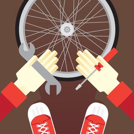 tube wrench: repair bicycle repair kit puncture wheels