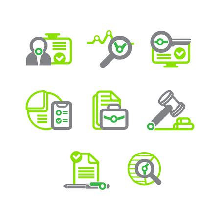 mail icon: a set of flat icons for the site or application on the subject of business