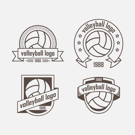 Vier logo met een volleybal bal en lint