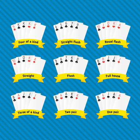 ascending: all combinations of poker with the names ascending