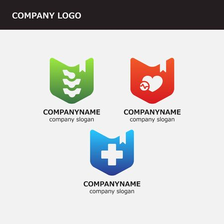 healthcare facilities: Three logo for healthcare facilities