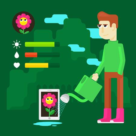 El problema social de la moderna tecnología de la planta de mascotas virtuales