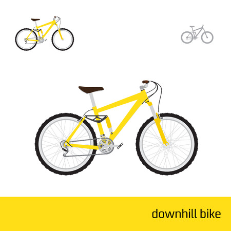downhill: downhill bike are three types of icons
