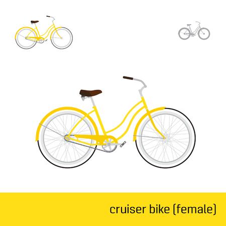 cruiser bike: cruiser bike female are three types of icons