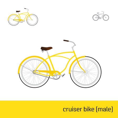 cruiser bike: cruiser bike male are three types of icons