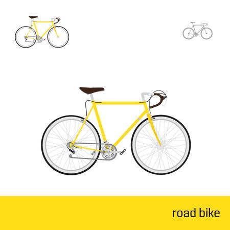 vélo de route sont trois types d'icônes