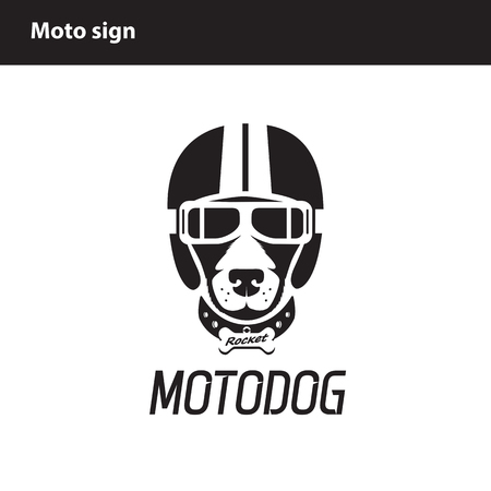 racing sign: The sign for motofestival or motorcycle racing, motorcycle club Illustration