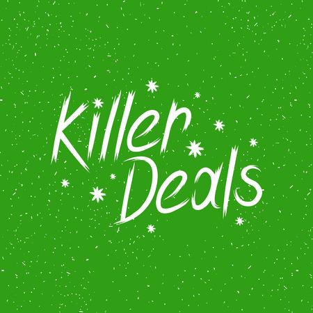 deals: hand drawn lettering killer deals Illustration