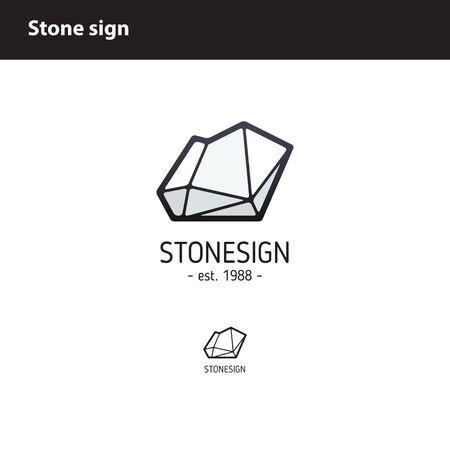 entwine: polygonal stone or rock Illustration