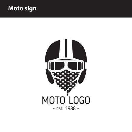 moto: Moto icon Workshop or store Illustration