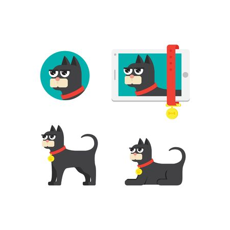 bombay: cat icon for mobile application startup or for pets Illustration