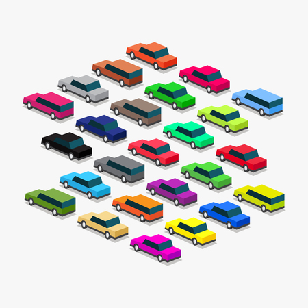 traffic in the city congestion from cars Illustration