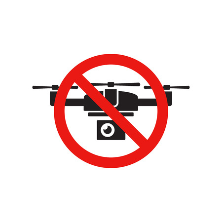 The sign forbidding flying drone Illustration