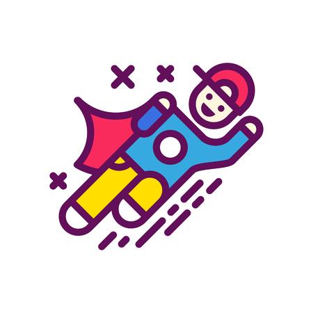 Logo super child, suitable for school or extra classes in child development Illustration