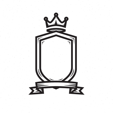 armory: Shield template for the heraldic logo Illustration