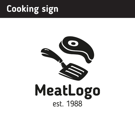 Logo for a cafe or restaurant where the main fucking steaks