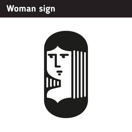youngster: Sign woman in modern style
