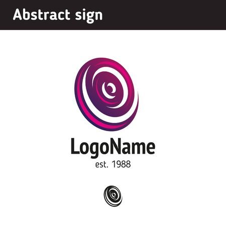 round: Abstract logo, can be suitable for different directions