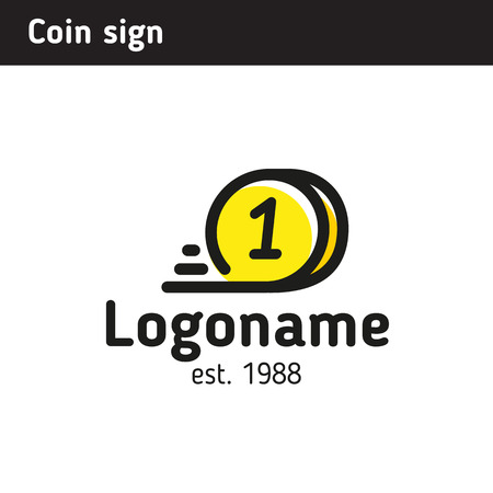 Sign in the form of a quick coin, a topic of crypto currency, a stock exchange, online transfers