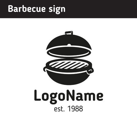 Grill sign in full size, barbecue Illustration
