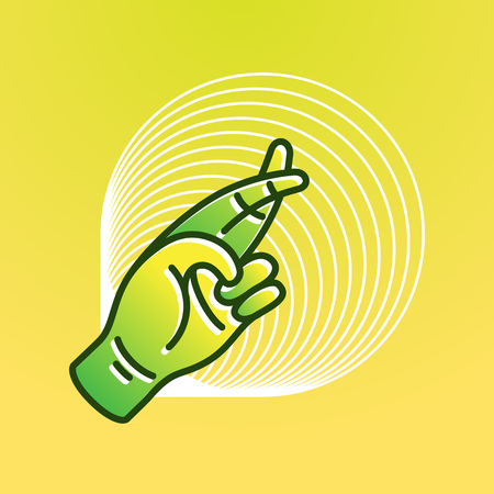 Illustration in modern style, Hand of luck