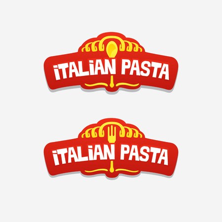 italian pasta, logo for a cafe or restaurant
