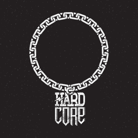 print on t-shirt or poster of hard core
