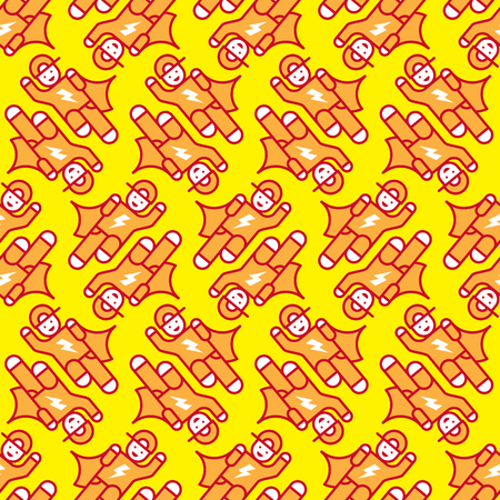 Seamless pattern super kid, for childrens team and school