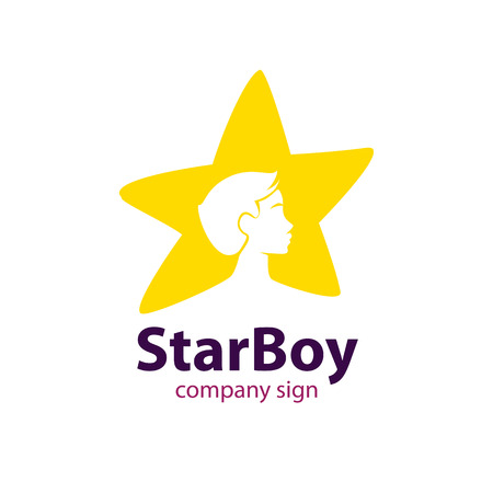 Star boy sign for childrens institution Illustration
