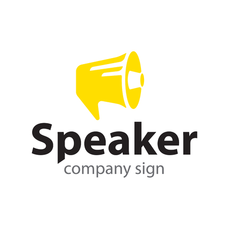 sign yellow loudspeaker, communication, social activity