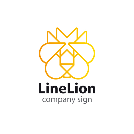 sign of a lion in a modern style