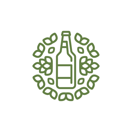 Logo for production of craft beer, shop, bar