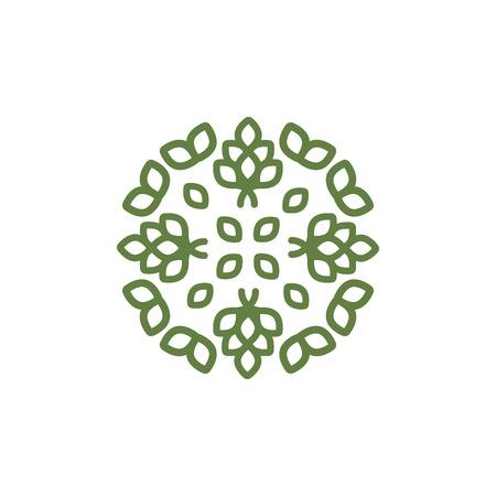 Illustration von floralem Ornament, Zeichen von Pflanzenelementen Vektorgrafik