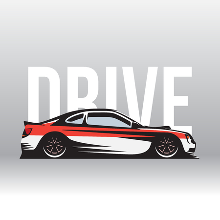 illustration a sports car for a workshop or tuning studio