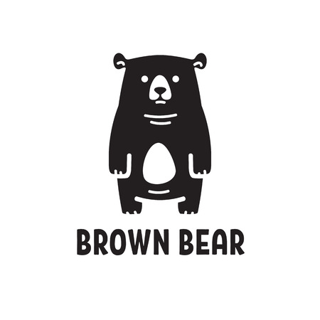 Stylized brown bear, funny bear