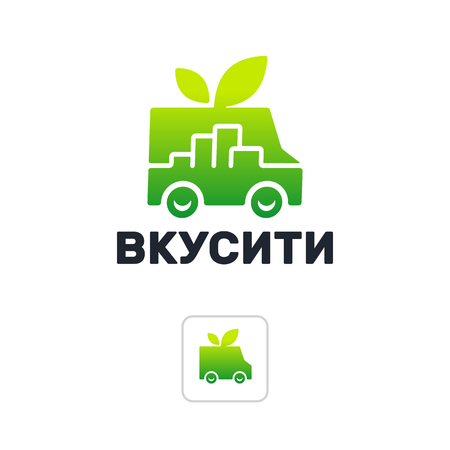 The sign for the company is the delivery of fresh products