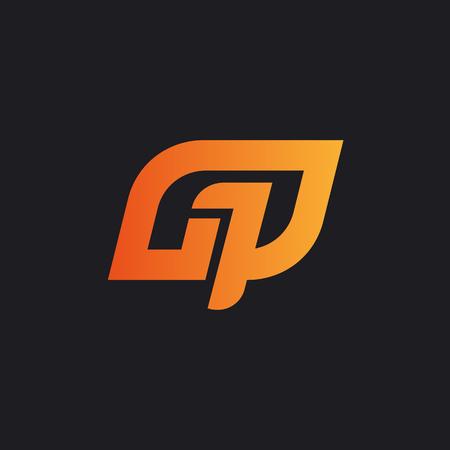 Abstract logo for your company, written G1P or GP
