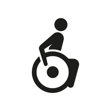 sign a person on a wheelchair, a sign in a modern style